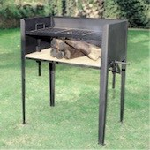 Barbecue with legs